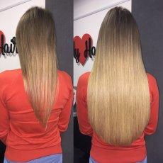 Наращивание волос на дому и с выездом к вам