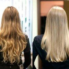 Наращивание волос, кератиновое выпрямление
