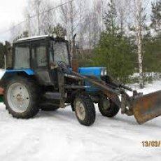 Уборка снега на участках