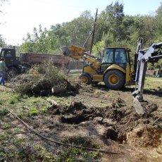 Расчистка территории для строительства