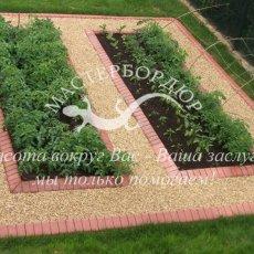 Красивые ограждения для грядок и клумб. Французский огород необычной формы