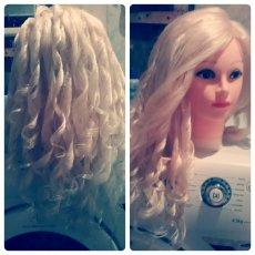 Манекен с волосами учебный для парикмахеров