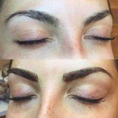 Микроблейдинг бровей. Волосковый метод перманентного макияжа. Выезд.